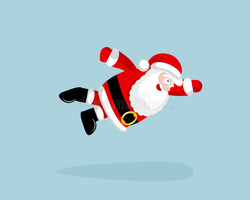 Super Santa Claus vliegt royalty-vrije illustratie