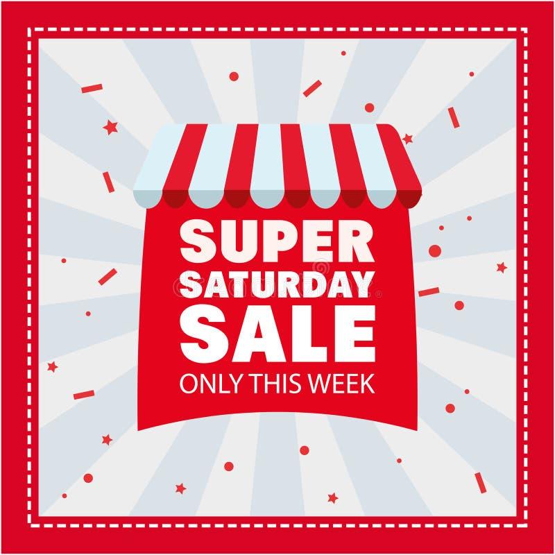 Super saturday sale royalty free illustration