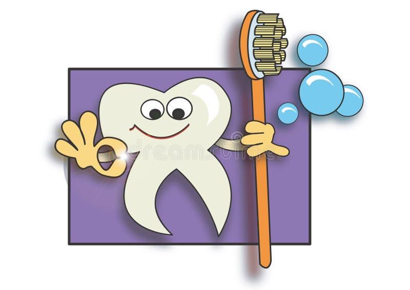 Super sauberer Zahn lizenzfreies stockfoto