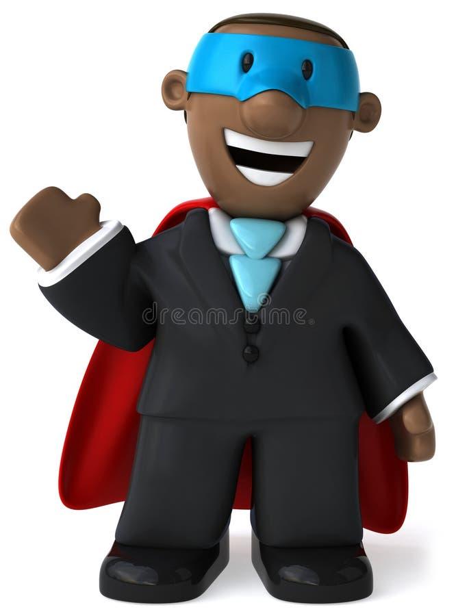 Super schwarzer Geschäftsmann stock abbildung