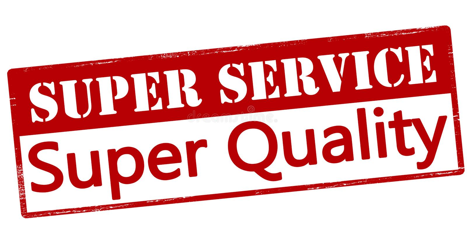 Super service super quality. Rubber stamp with text super service super quality inside, vector illustration royalty free illustration