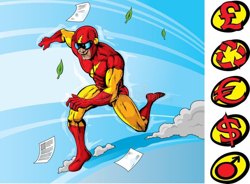 Download Super speedster stock vector. Image of running, sign - 25018567