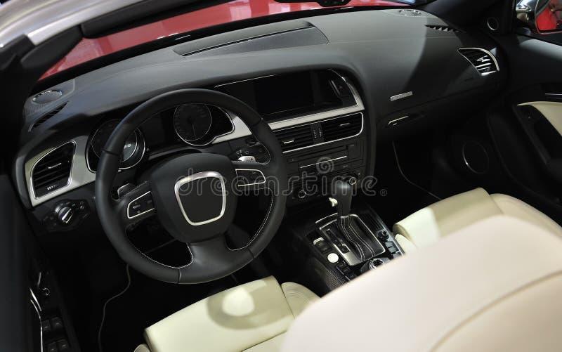 Super Sport Car Interior. A Red Super Sport Car Interior stock image