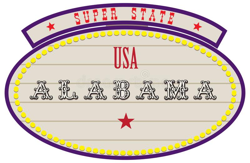Super State USA - Alabama stock illustration