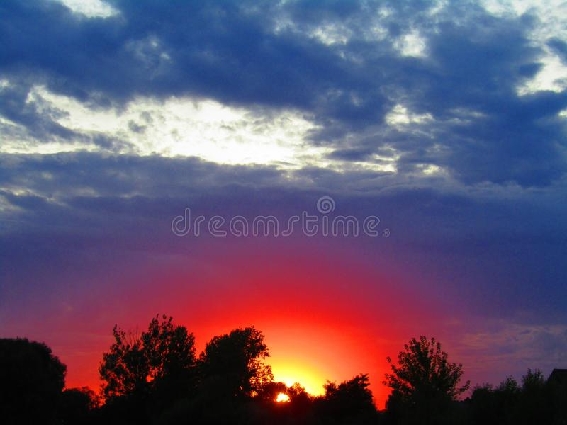 Super sunset in Chelm Poland stock images