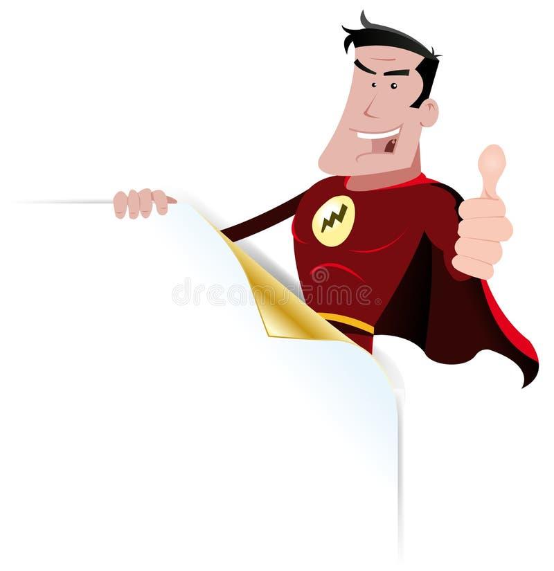 super sztandaru bohater royalty ilustracja