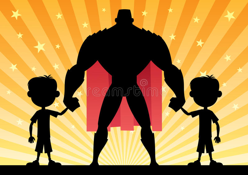 Super tata bliźniaka chłopiec ilustracji
