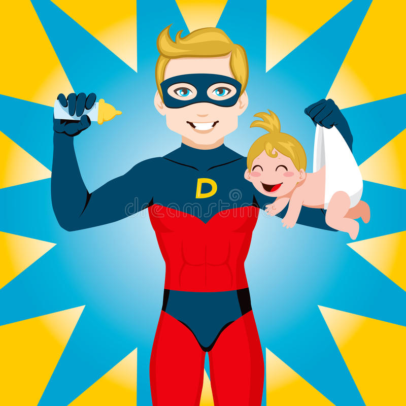 super tata bohater royalty ilustracja