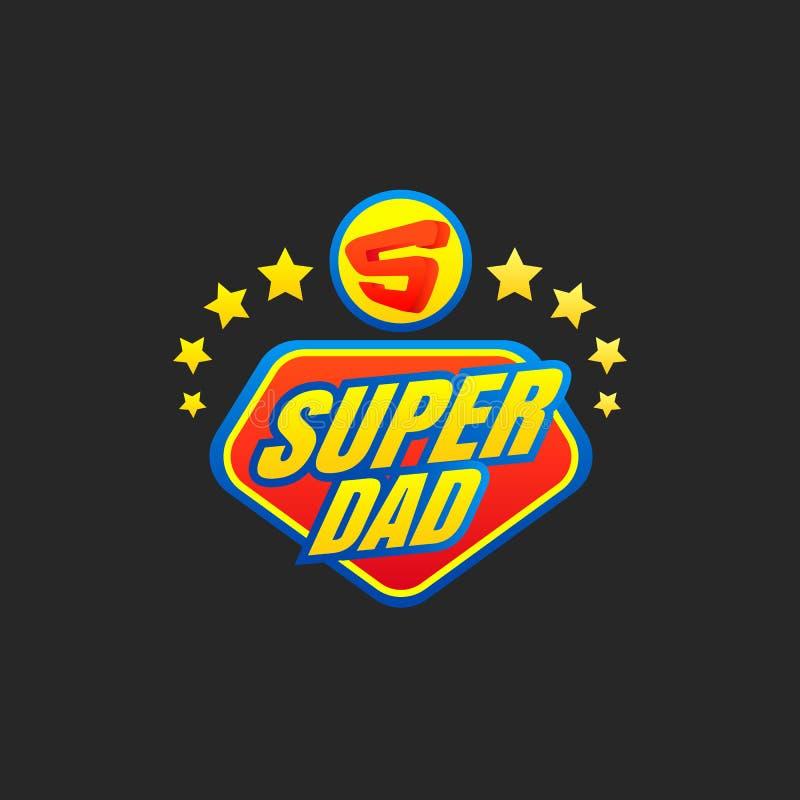 Super tata emblemat ilustracji