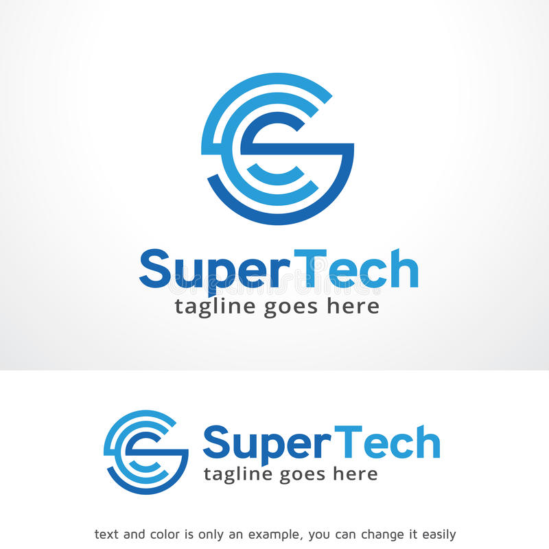 Super Tech Logo Template Design Vector Emblem Design Concept