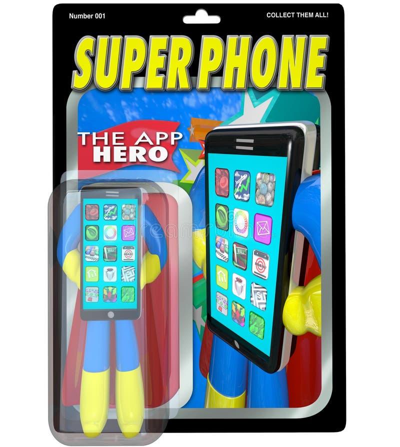 Super Telefoon Apps Beste Slimme Cellphone voor Verkoop royalty-vrije illustratie