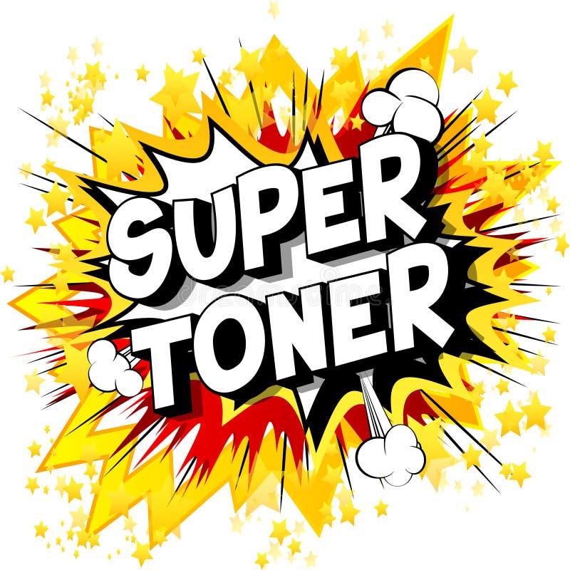 Super toner - komiksu stylu słowa royalty ilustracja
