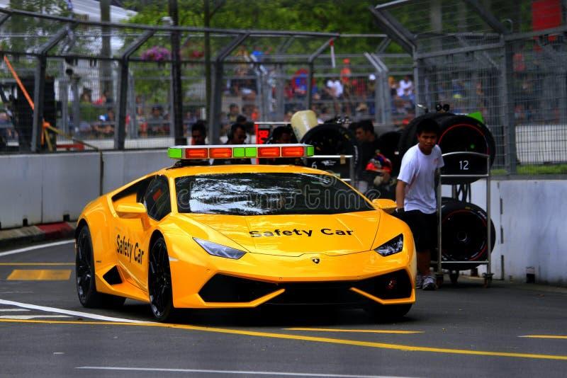 Super-Trofeo Kiloliter Stadt Grandprix Lamborghinis stockfotografie