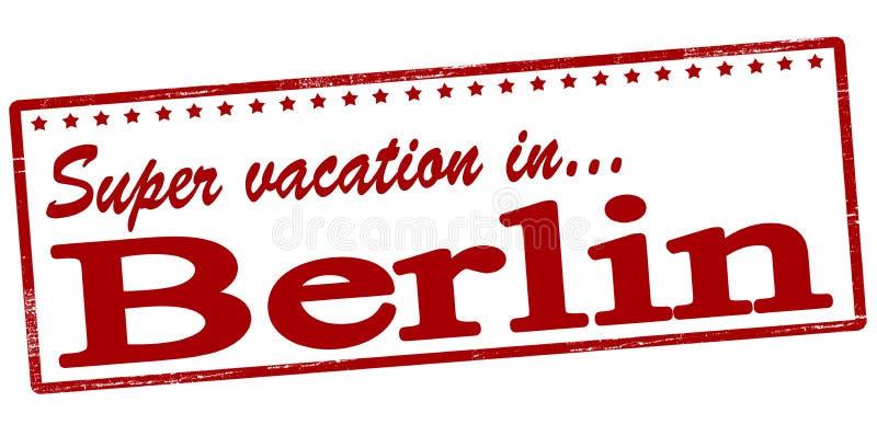 Super vacation in Berlin vector illustration