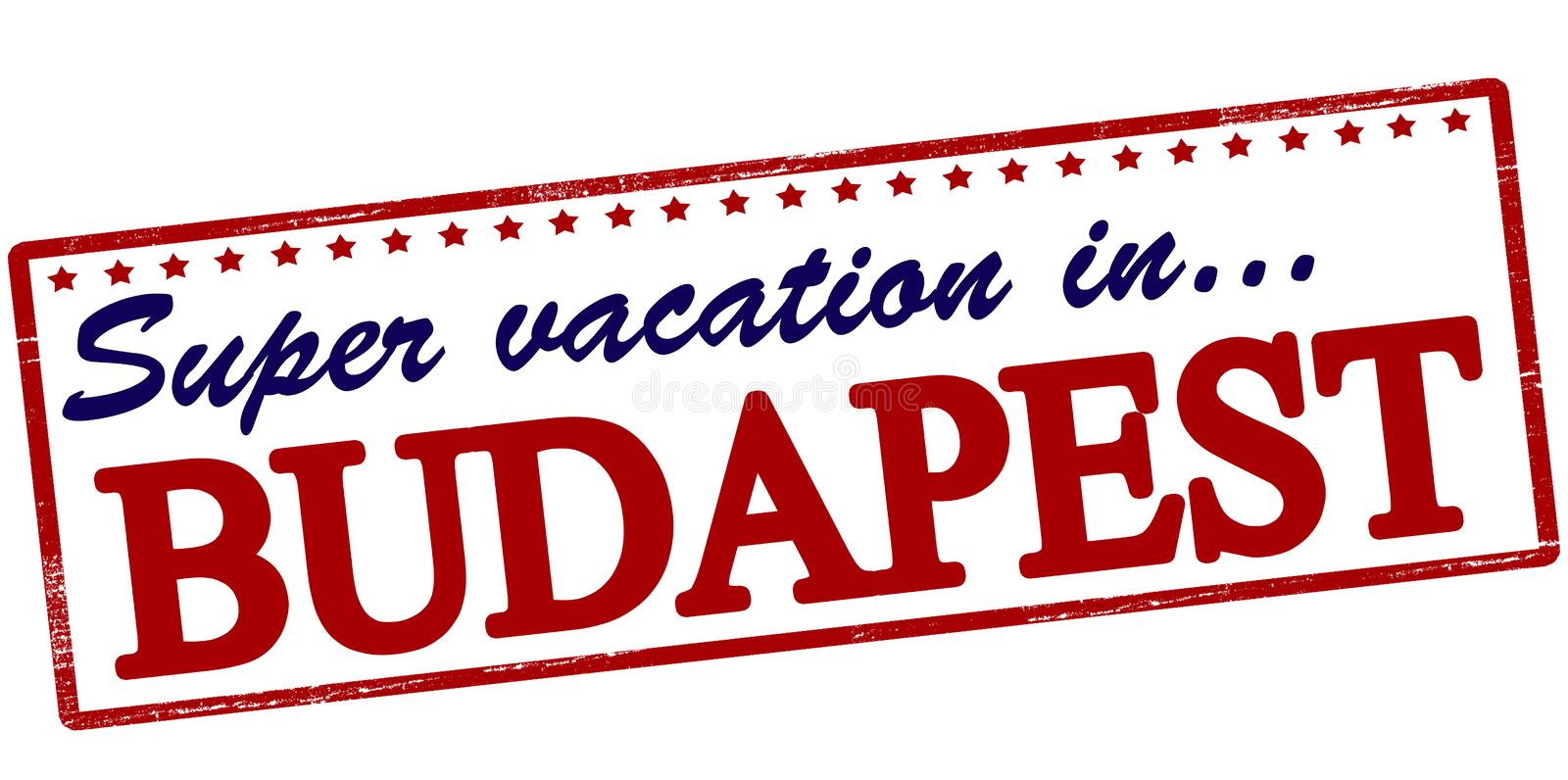 Super vacation in Budapest royalty free illustration