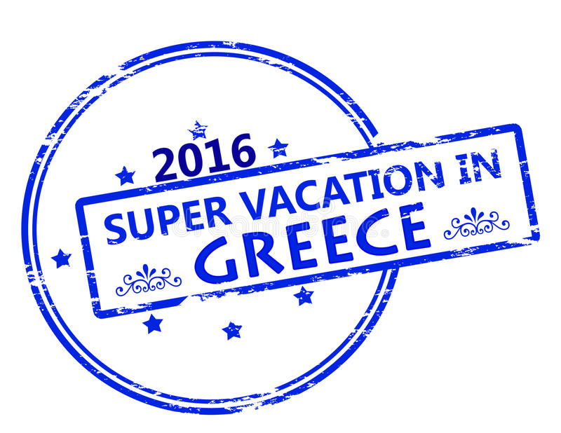 Super vacation in Greece royalty free illustration