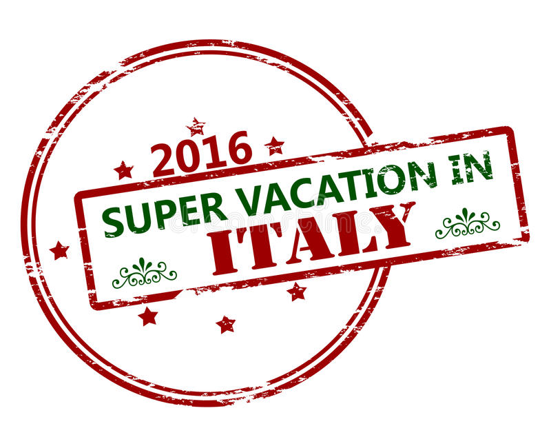 Super vacation in Italy vector illustration
