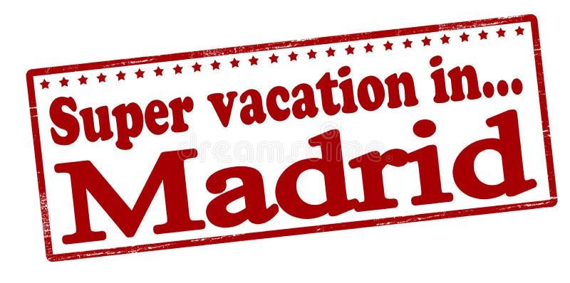 Super vacation in Madrid stock illustration