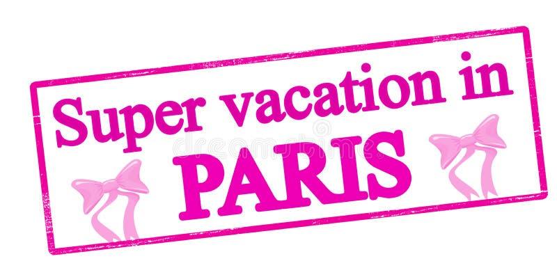 Super vacation in Paris royalty free illustration