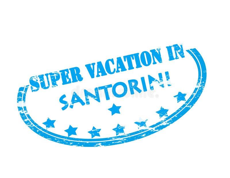Super vacation in Santorini vector illustration