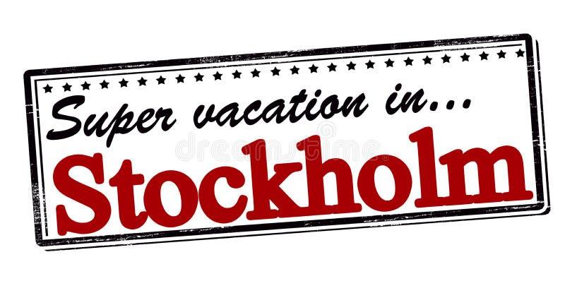 Super vacation in Stockholm vector illustration