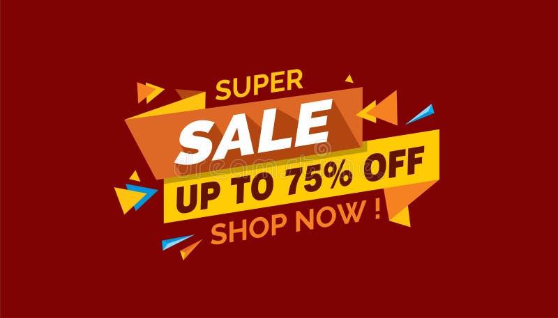 Super Verkoop, het Kleurrijke Etiket van de Verkoopbanner, Promo-Verkoopkaart royalty-vrije stock foto's