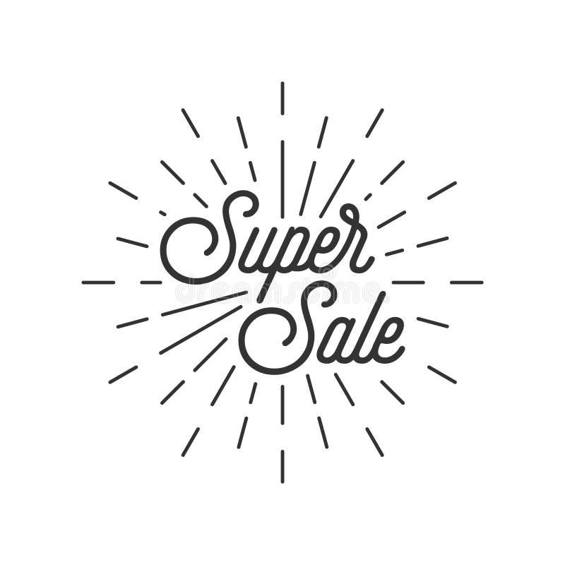 Super verkoop met uitbarsting vector illustratie