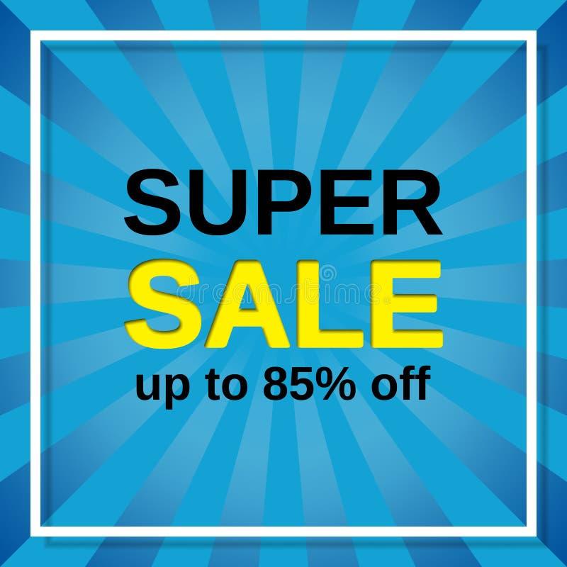 Super verkoopbanner Vector illustratie stock illustratie