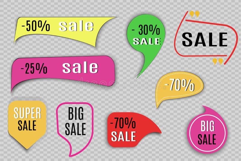 Super Verkoopdocument banner Concept voor marketing en elektronische handel Vector illustratie royalty-vrije illustratie