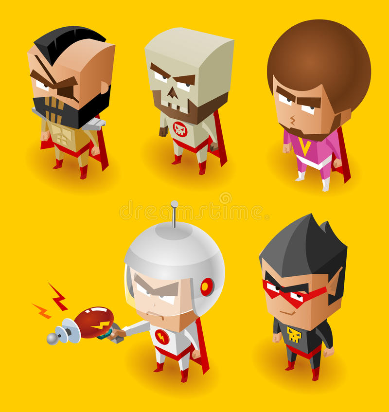 Super Villain with evil mind vector illustration