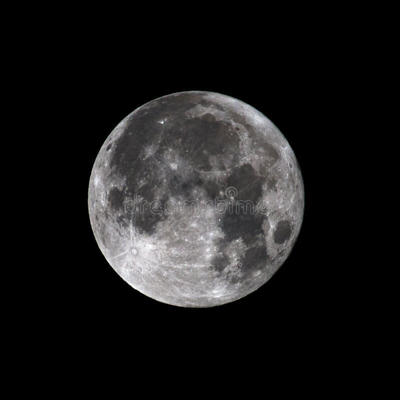 Super Volle maan Januari 2018 royalty-vrije stock afbeelding