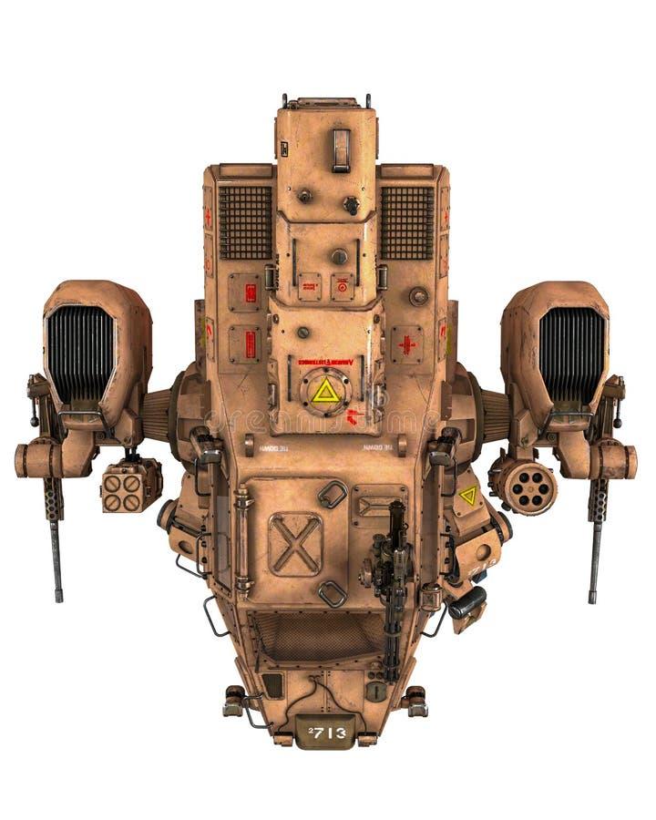 Super war machine royalty free illustration