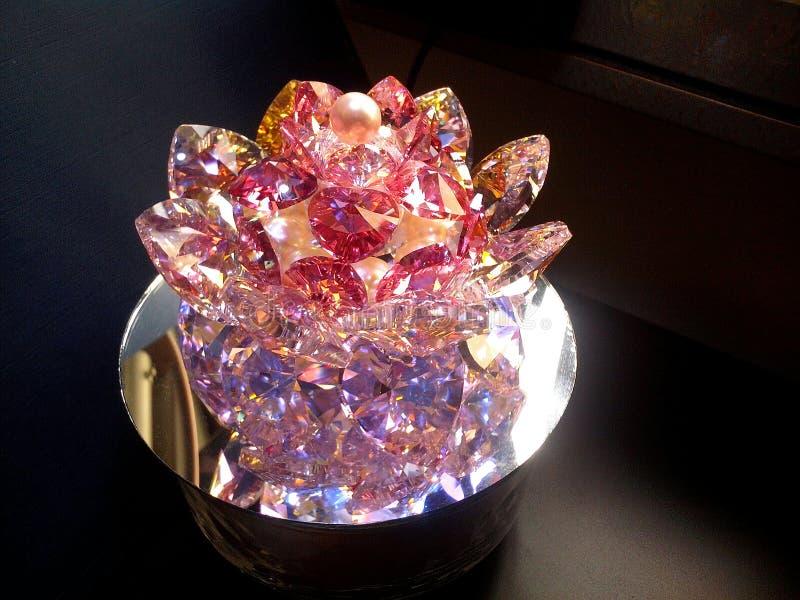 Super Wielki Krystaliczny Lotosowy kwiat fotografia royalty free