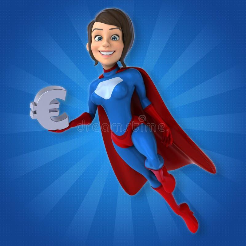 Super woman stock illustration