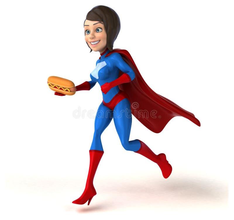 Super woman royalty free illustration