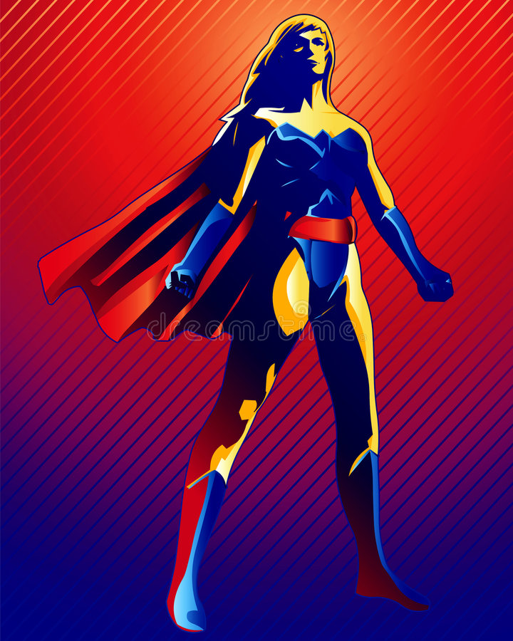 Download Super Woman stock illustration. Image of painted, hero - 920692