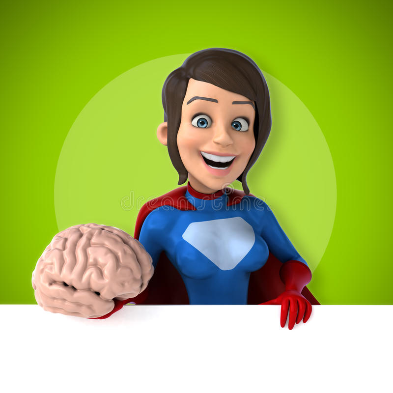 Super woman stock illustration
