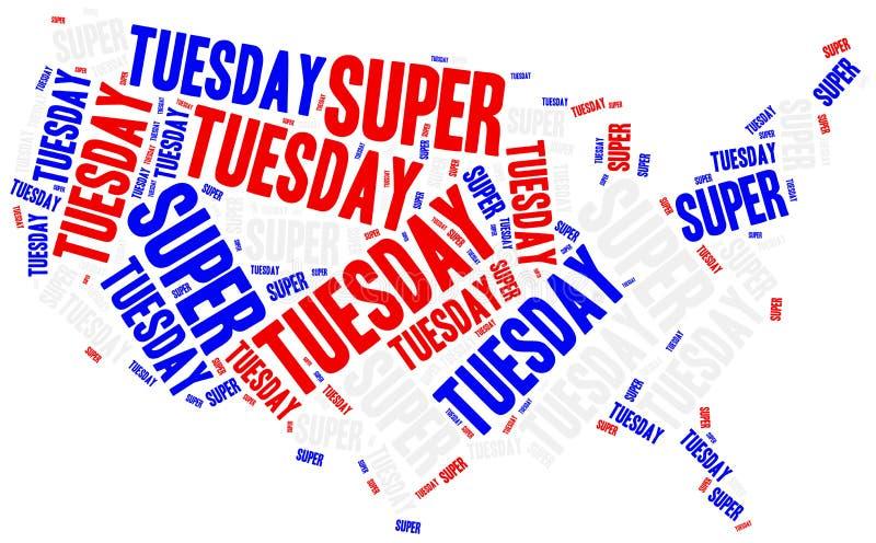 Super Wtorek Pojęcie odnosić sie amerykański prezydenta wybory royalty ilustracja