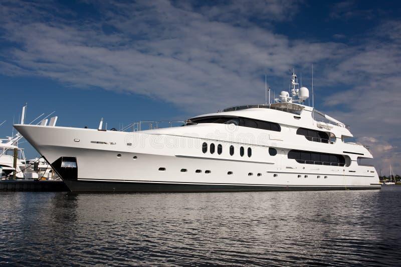 Super yacht stock image