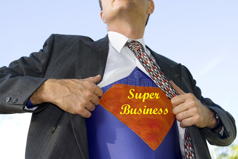 Super Zakenman royalty-vrije stock foto's