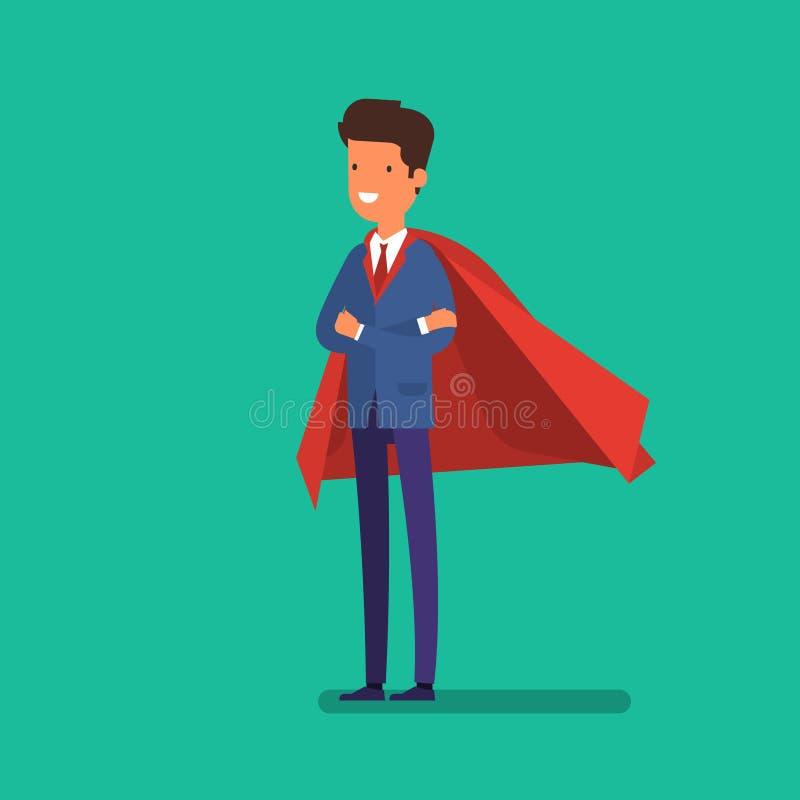 Super zakenman Bedrijfs conceptenillustratie stock illustratie