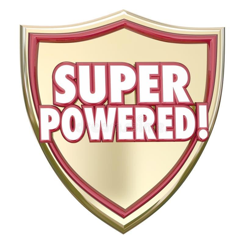 Super Zasilana osłona Formułuje bohater zdolności Możną siłę ilustracja wektor
