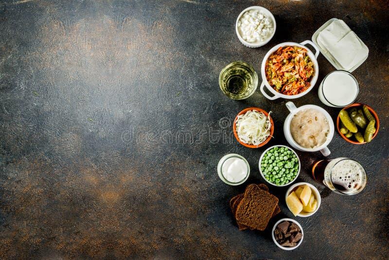 Super Zdrowi Probiotic Fermentujący Karmowi źródła fotografia royalty free