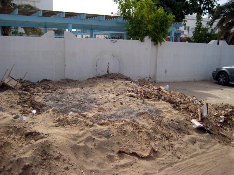 Super zyklonischer Sturm Gonu Muscat Oman am 1. Juni 2007 lizenzfreies stockbild