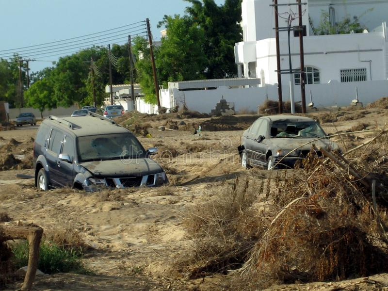 Super zyklonischer Sturm Gonu Muscat Oman am 1. Juni 2007 lizenzfreie stockfotografie