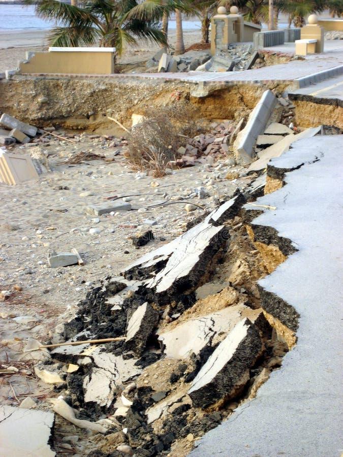 Super zyklonischer Sturm Gonu Muscat Oman am 1. Juni 2007 stockfoto