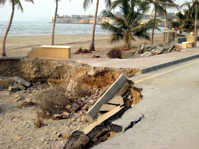 Super zyklonischer Sturm Gonu Muscat Oman am 1. Juni 2007 stockfotos