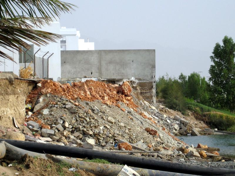 Super zyklonischer Sturm Gonu Muscat Oman am 1. Juni 2007 lizenzfreies stockfoto