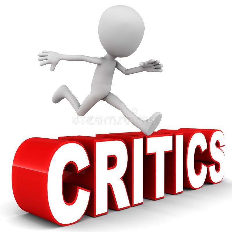 Superación de críticos stock de ilustración