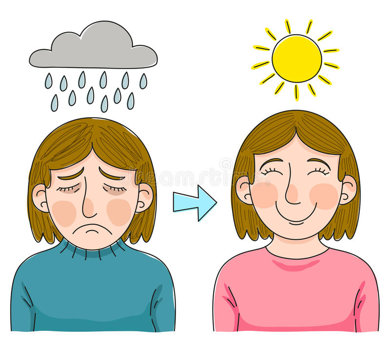 Superando a depressão ilustração stock